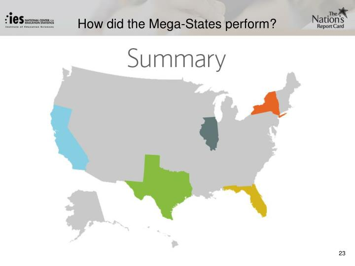 How did the Mega-States perform?