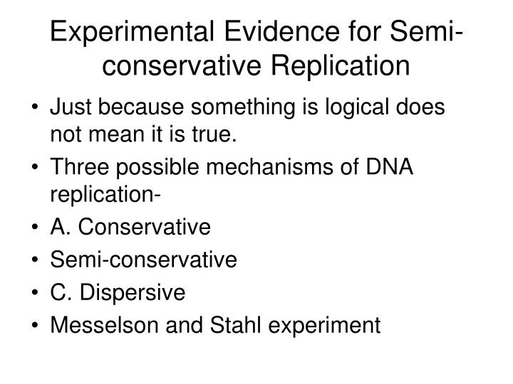 Experimental Evidence for Semi-conservative Replication