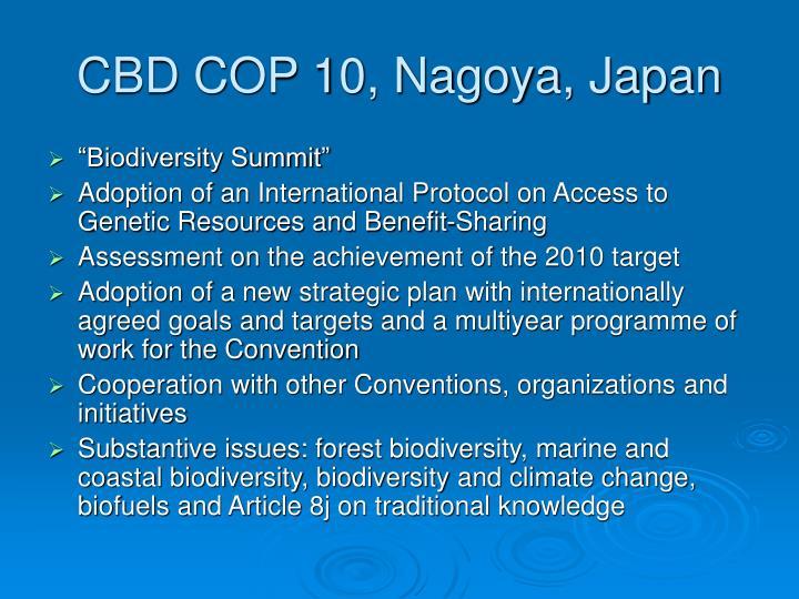 CBD COP 10, Nagoya, Japan