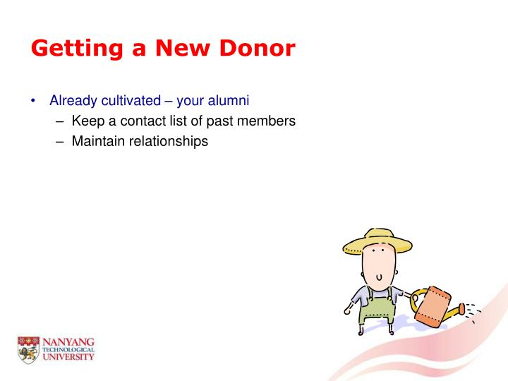 Getting a New Donor