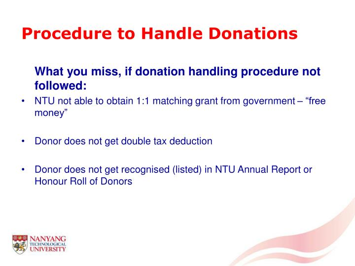 Procedure to Handle Donations