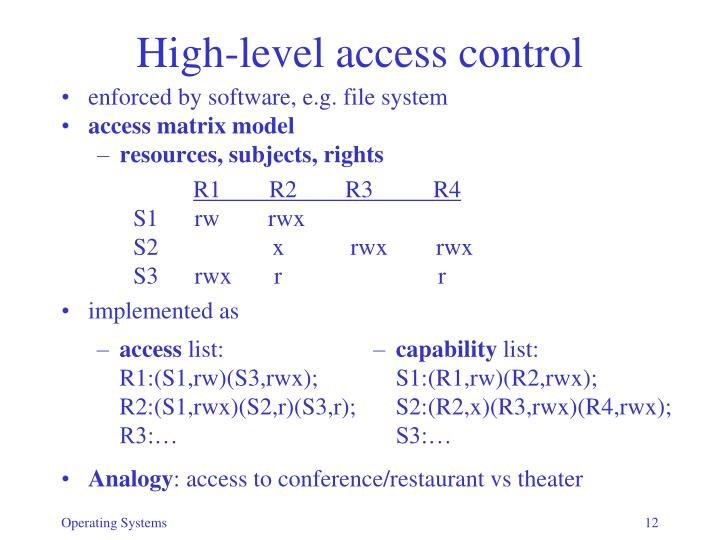 High-level access control