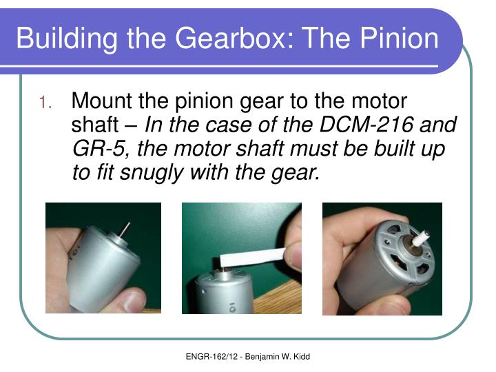 Building the Gearbox: The Pinion