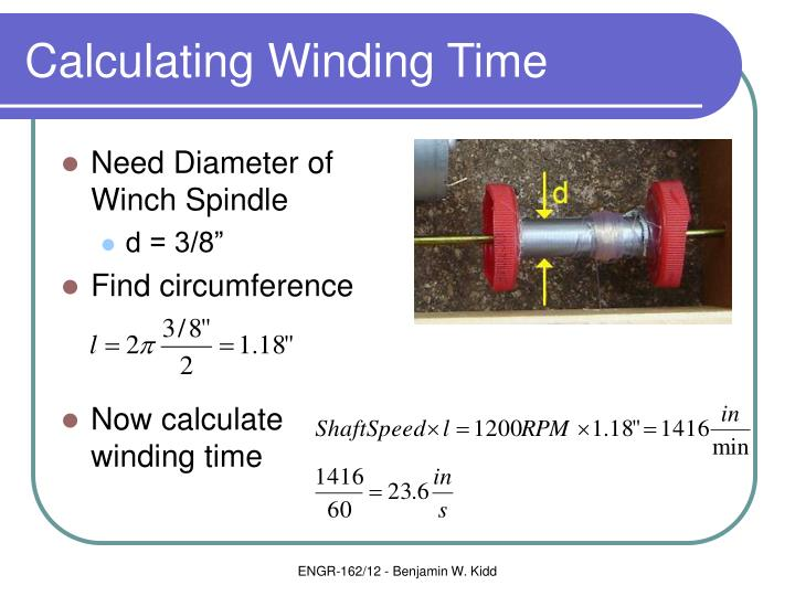 Calculating Winding Time