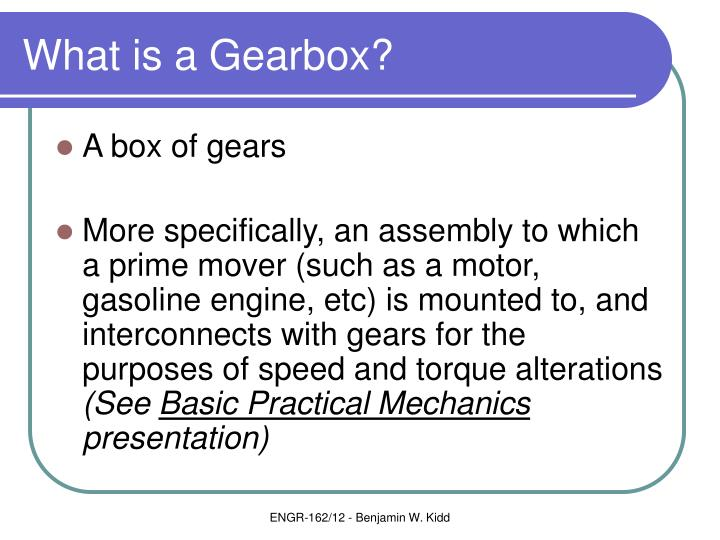 What is a gearbox