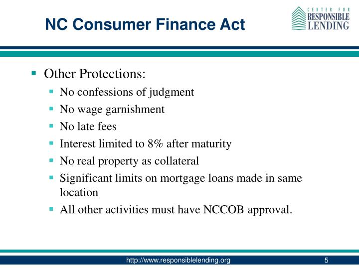 NC Consumer Finance Act