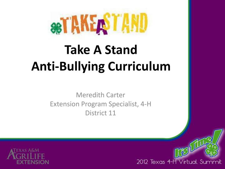 taking a stand against bullying in schools essay