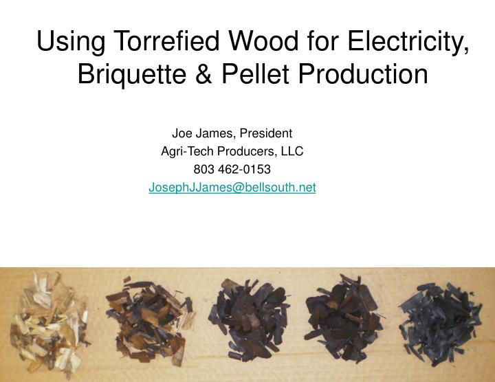 Ppt Using Torrefied Wood As A Coal Replacement For