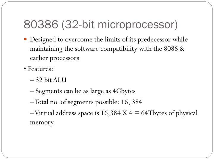 80386 (32-bit microprocessor)