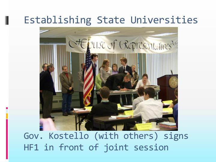 Establishing State Universities
