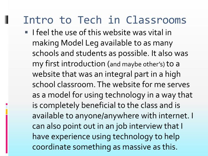 Intro to Tech in Classrooms