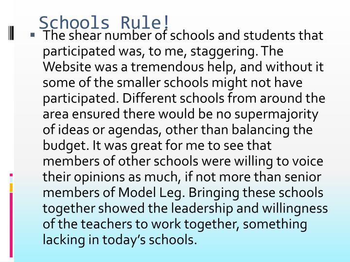 Schools Rule!