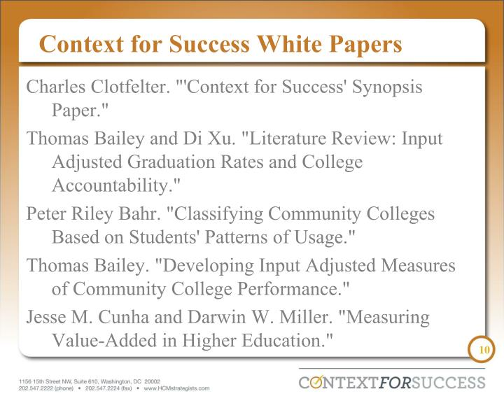 Context for Success White Papers