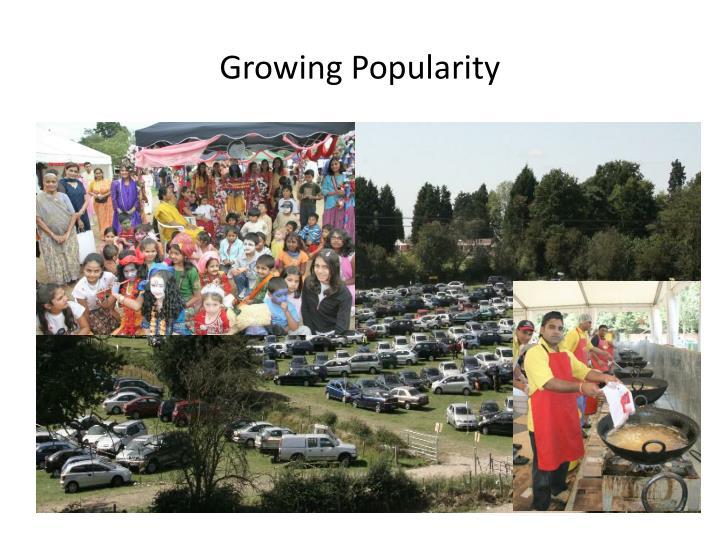 Growing Popularity