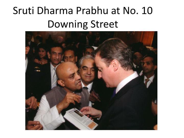 Sruti Dharma Prabhu at No. 10 Downing Street