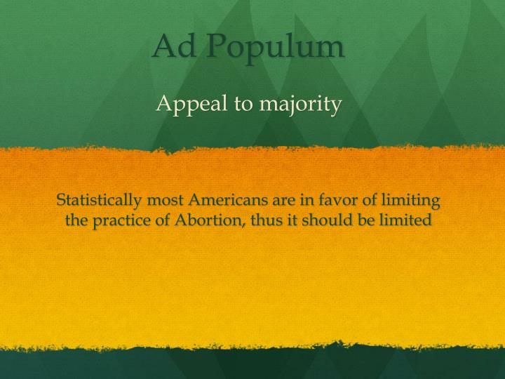 Appeal to majority
