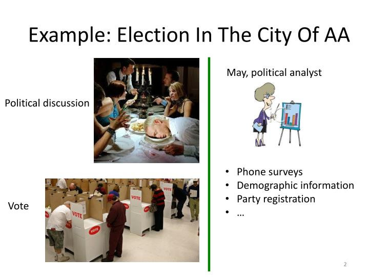 Example: Election In The City Of AA