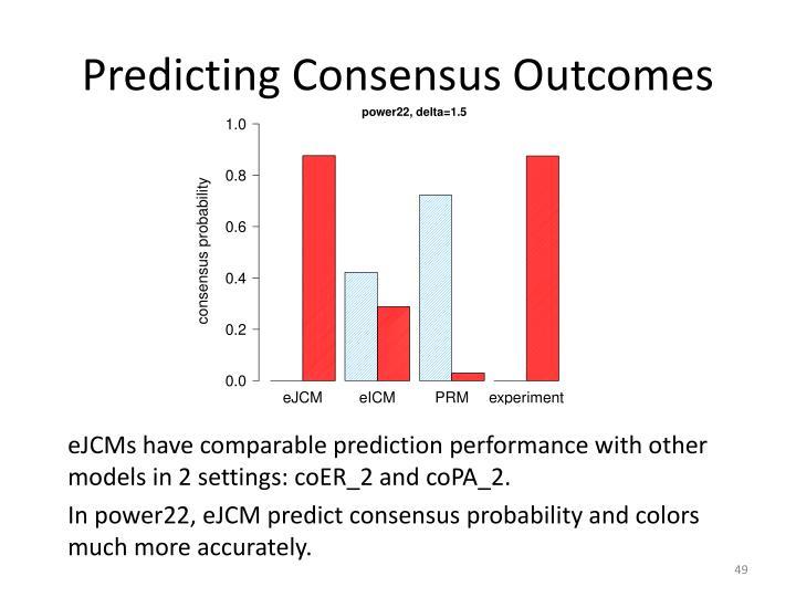 Predicting Consensus Outcomes