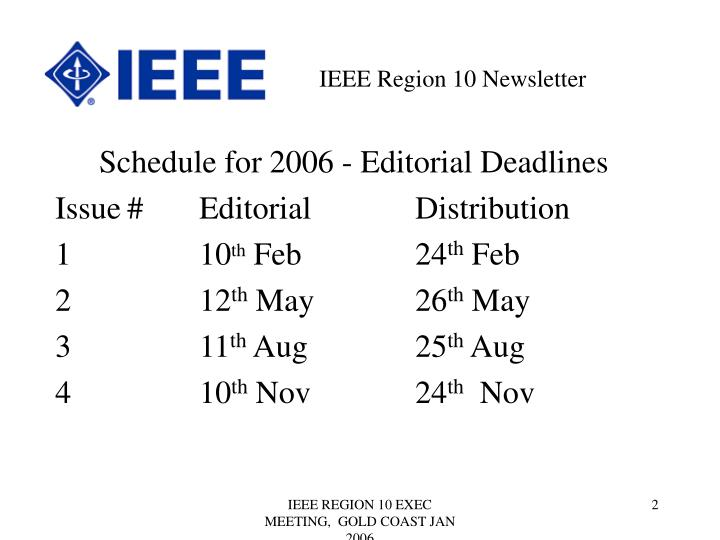 IEEE Region 10 Newsletter