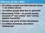 effects of the war