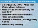 victory and occupation germany