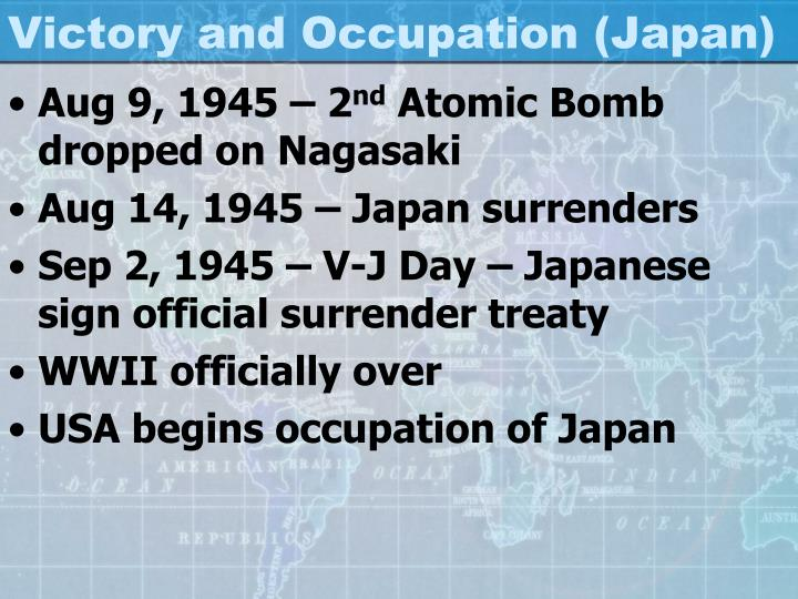 Victory and Occupation (Japan)
