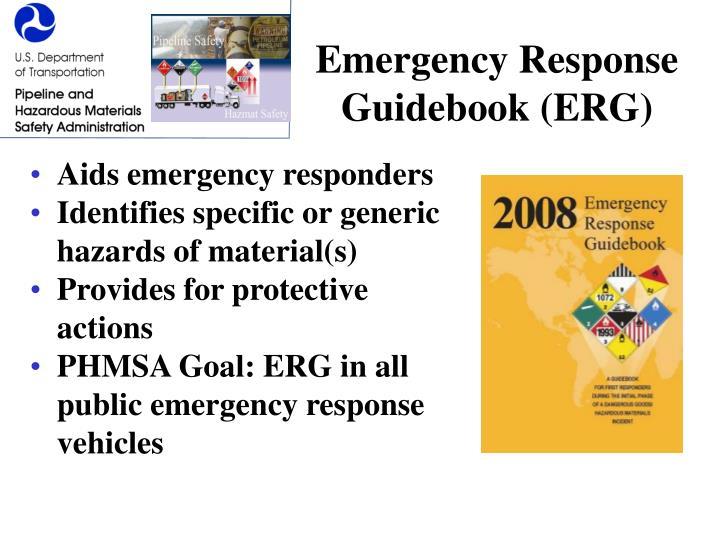 Emergency Response Guidebook (ERG)