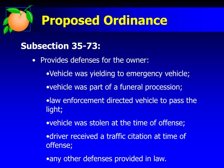 Proposed Ordinance