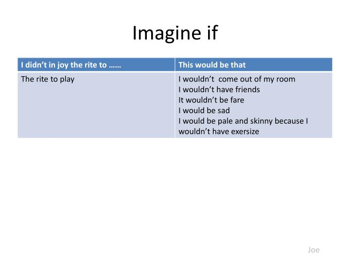 Imagine if