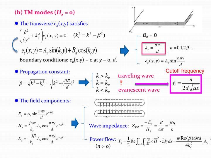 (b) TM modes (