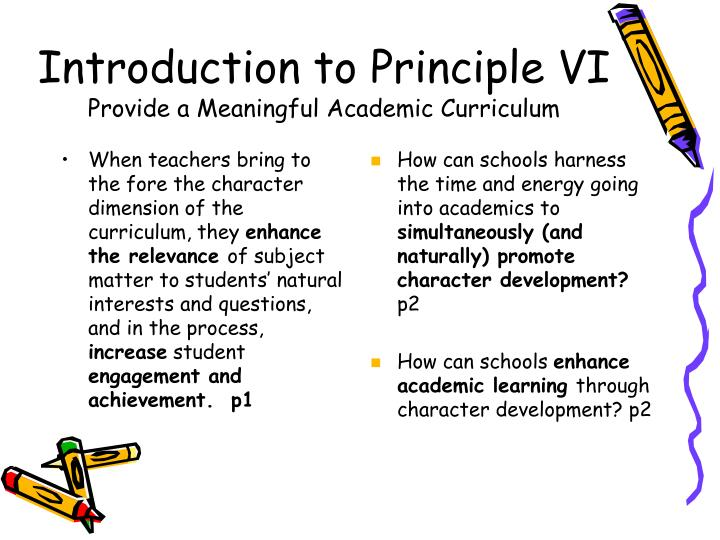 Introduction to Principle VI