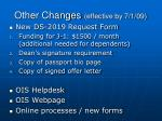 other changes effective by 7 1 09