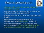 steps to sponsoring a j 11