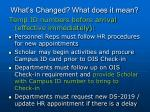 what s changed what does it mean