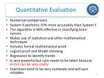 quantitative evaluation