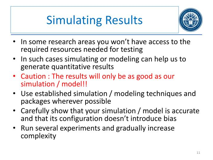 Simulating Results