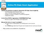 online pa state grant application