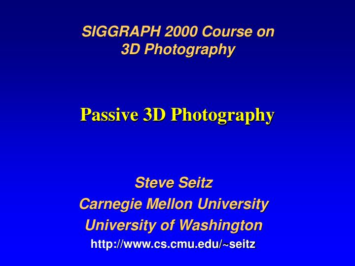 SIGGRAPH 2000 Course on