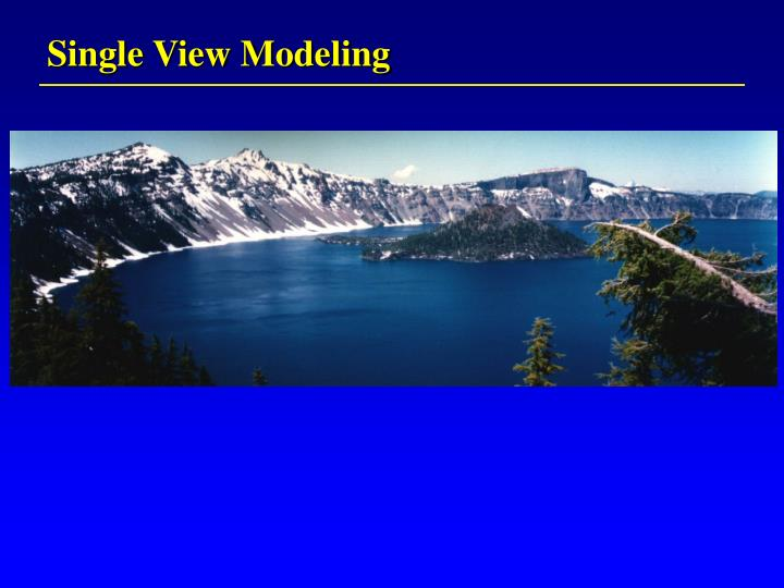 Single View Modeling