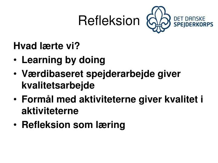 Refleksion