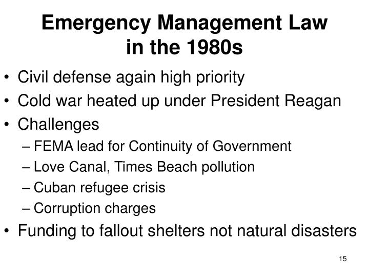 Emergency Management Law