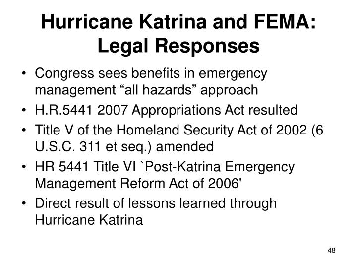 Hurricane Katrina and FEMA: