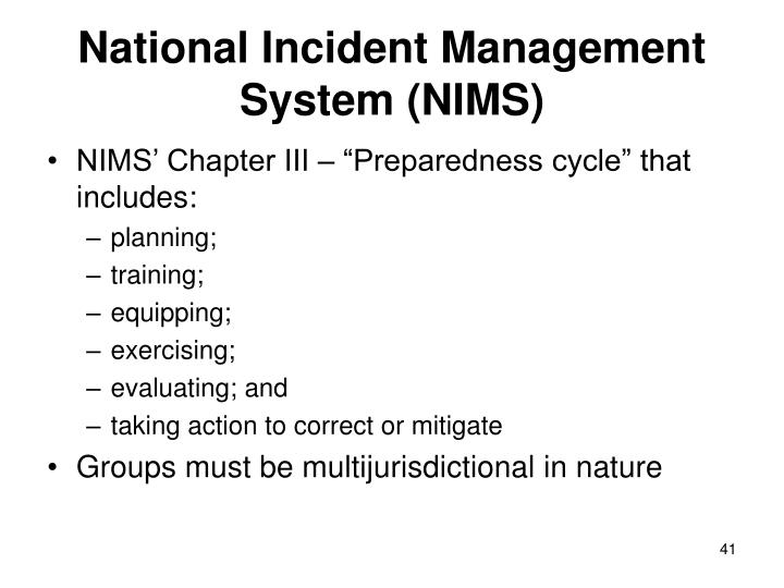 National Incident Management System (NIMS)