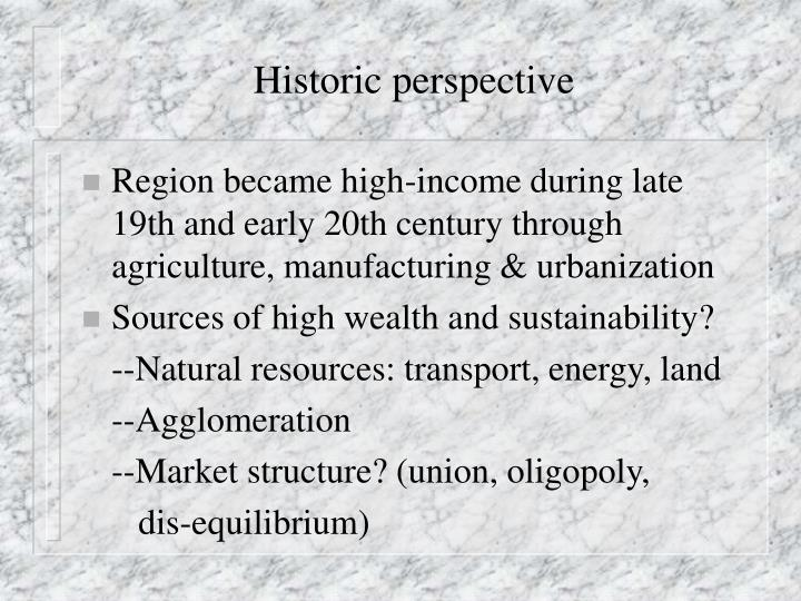 Historic perspective