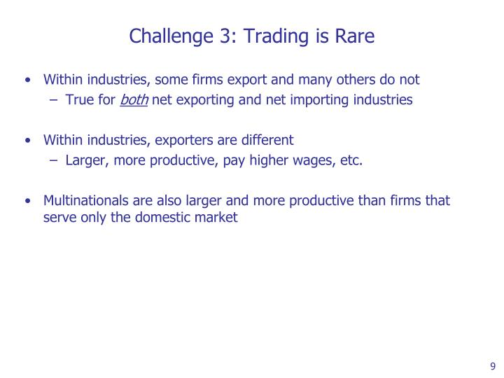 Challenge 3: Trading is Rare