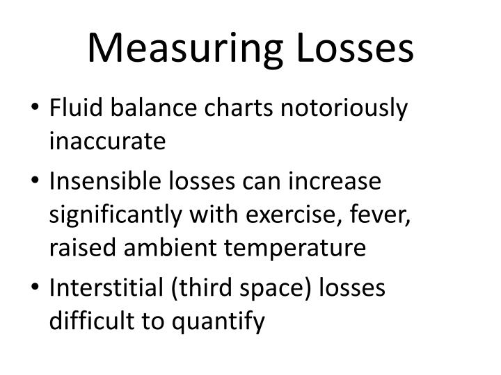 Measuring Losses