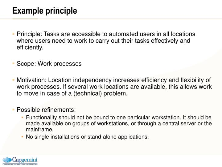 Example principle