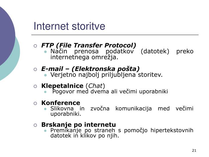 Internet storitve