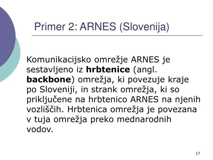 Primer 2: ARNES (Slovenija)
