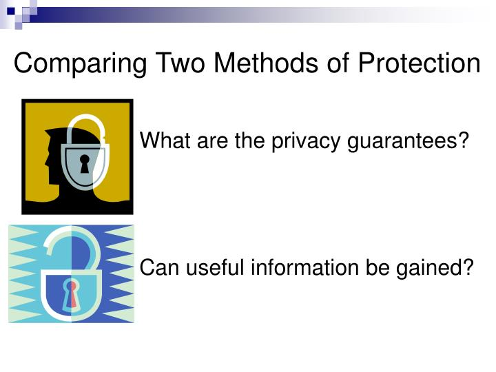 Comparing Two Methods of Protection